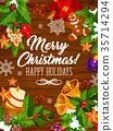 christmas, greeting, vector 35714294