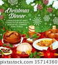 christmas, dinner, vector 35714360