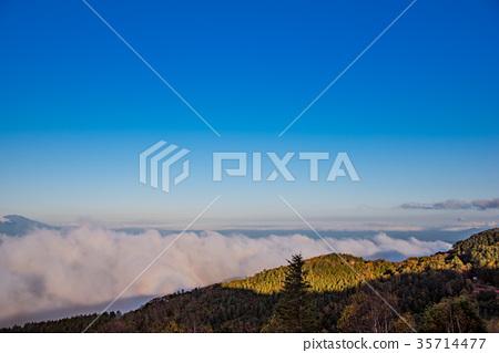 Blocken现象反映在秋天的Migahara Plateau Unkai 35714477