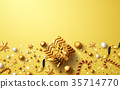 Christmas and New Years Golden background 35714770