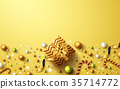 Christmas and New Years Golden background 35714772