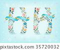 vector, letter, font 35720032