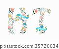 vector, letter, font 35720034