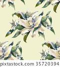 ดอกไม้,แบบ,สีน้ำ 35720394