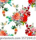 ดอกไม้,แบบ,สีน้ำ 35720413