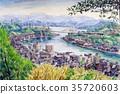 尾道本州橋的素描 35720603