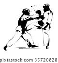 跆拳道 格鬥運動 矢量 35720828