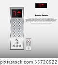 Buttons and display modern design for elevator 35720922