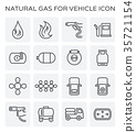 natural gas icon 35721154
