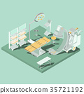 Vector isometric interior of operating room with 35721192