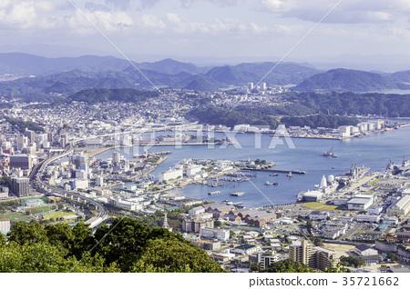 從長崎Yumaridake看佐世保市和佐世保港 35721662