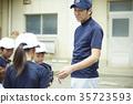 青少年棒球 男孩 教練 35723593