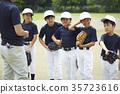소년 야구 팀 연습 35723616