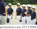 男孩棒球队练习 35723666