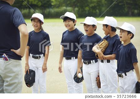 소년 야구 팀 연습 35723666