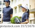 青少年棒球 女孩 练习 35723676