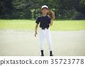 청소년 야구 투구 연습을하는 소년 초상화 35723778