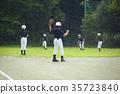 少年棒球练习比赛防守 35723840
