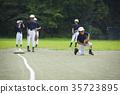 少年棒球练习比赛防守 35723895