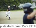 男孩棒球比賽投手 35723918