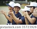 ภาพทีมฝึกซ้อมเบสบอลบอย 35723926