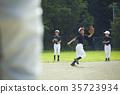 少年棒球练习比赛防守 35723934