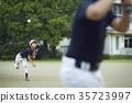 男孩棒球比賽投手 35723997