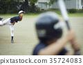男孩棒球比賽投手 35724083