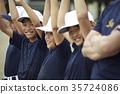 男孩棒球練習隊員 35724086