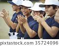 青少年棒球 小学生 微笑 35724096