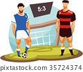 soccer player vector 35724374