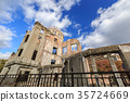 atomic bomb dome, historic structure, bombed building 35724669