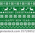 녹색, 크리스마스, 벡터 35726652