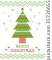 北歐聖誕卡片 35726655