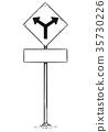 sign, arrow, fork 35730226