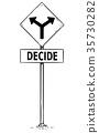 sign, fork, arrow 35730282