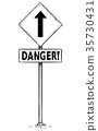 sign, danger, arrow 35730431