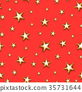 Christmas star seamless pattern 35731644