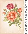 rose, flower, card 35732420