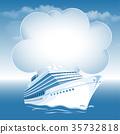 Passenger cruise liner 35732818