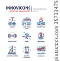 Modern transport - line design icons set 35733475