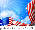 American Flag Sky Background Design 35735093