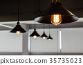 A group of hanging lights  35735623