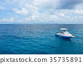 Speed boat floating in the beautiful ocean  35735891