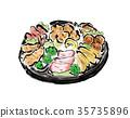 開胃菜 手繪 宴會 35735896