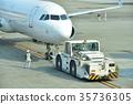 出发 客用飞机 飞机 35736305