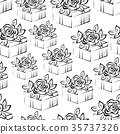 Seamless Background with Gift Boxes 35737326