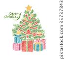 圣诞冬青 圣诞树 礼物 35737843