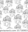 Seamless Background with Gift Boxes 35738903