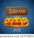Happy Halloween greeting card 35739003